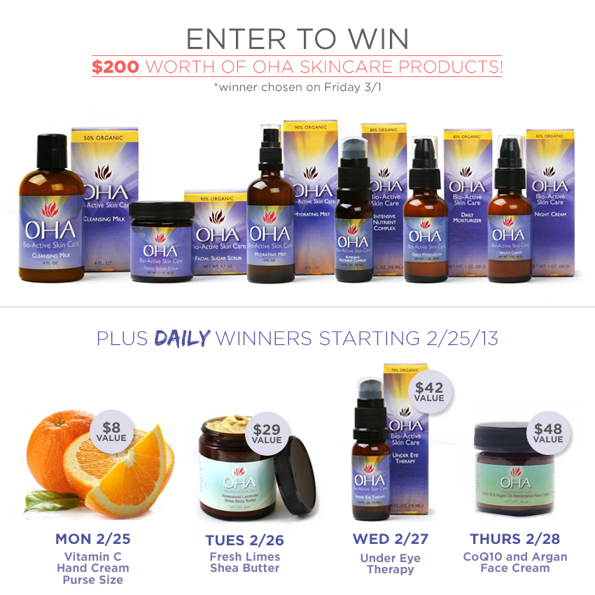 Giveaway: OHA Skin Products